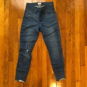 Jcrew High Rose Toothpick Jeans Size 27